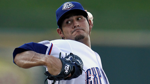 Martin Perez went 8-6 with a 4.33 ERA across two levels last season.
